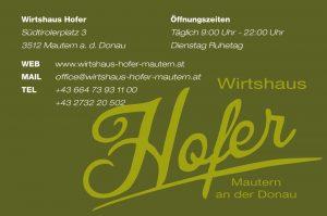 Visitenkarte Hofer